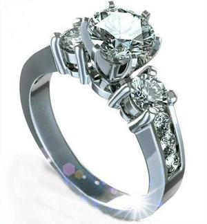 Anillos Compromiso 14kt 1.50ct Diamantes Forever Brilliant