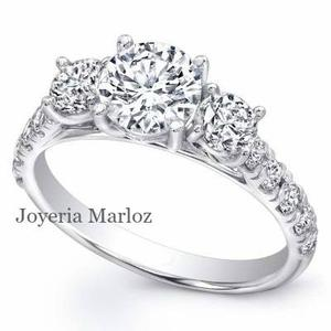 Anillos Compromiso 18kt Diamante Ruso Estuche Y Envio Gratis