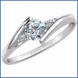 Anillos Compromiso Forever Brilliant Corte Diamante.35ct