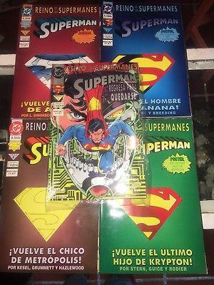 Colección COMPLETA El reino de los supermanes con pósters