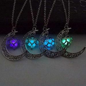 Collar Luna Brilla En Oscuridad Envio Express Dhl Gratis