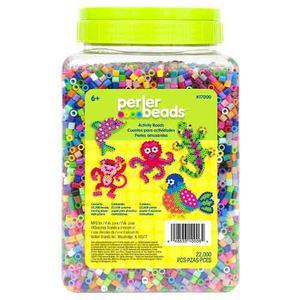 Perler Beads Cubeta Con  Cuentas Midi Multi Mix, Papel