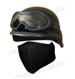 Combo Para Gotcha Casco Tipo Kevlar Goggles 1/2 Mascara
