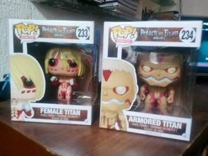 Funko pop attack on titan female y armored titan 6''