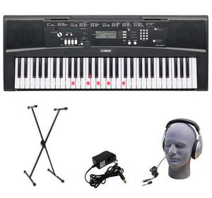 Kit De Stand Audifonos Y Teclado Teclas Iluminadas Yamaha Ez