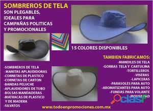 SOMBREROS PLEGABLES PARA CAMPAÑAS POLITICAS