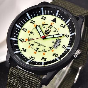 Reloj de cuarzo de alta calidad tipo Militar para hombre.