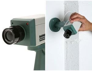 Camara De Seguridad Falsa Detector Movimiento Ee1