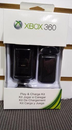 Kit Carga Y Juega 4 En 1 Xbox 360 Bateria, Cargador Y Cable