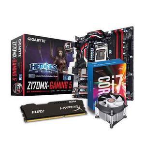 Kit Gamer Intel Core I7 + Ga-z170mx Gaming 5 + 8gb Ddr4