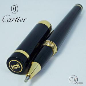Pluma Cartier Black Gold King + Estuche + Envío Gratis