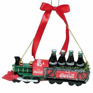 Tren De Coca Cola Ornamental Navideño De Resina Envio+