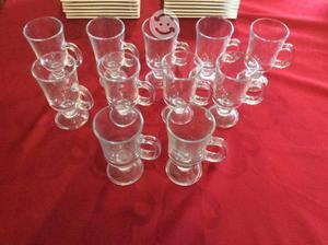 Plaqué juego de vasos capuchineros y tazas