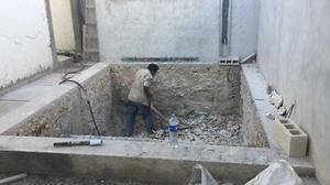 Pozos y excavaciones con rompedora y comoresor 185 cfm