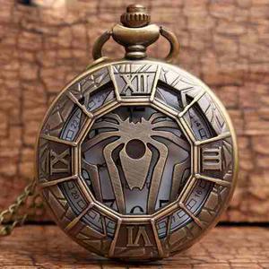 Reloj De Bolsillo De Spiderman Hombre Araña Pocket Watch