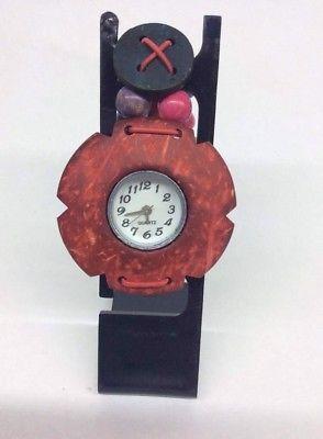 Reloj para niña en madera en colores