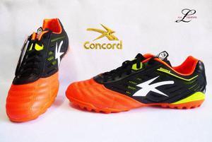 Zapato Futbol Rápido Concord Naranja Piel Modelo S162yj