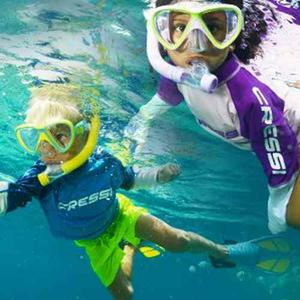Kit Buceo Aletas Visor Snorkel U.s. Divers Junior, Niño