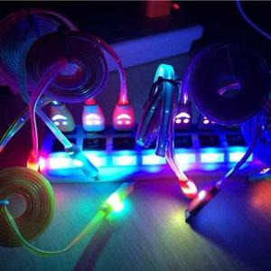 Cable Micro Usb V8 Luminoso Luz Led Celular Tablet Bocina
