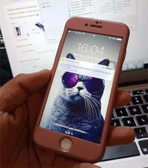Funda Case Iphone 8,5, 5s, Se, 6, 6s, 7, X 360 Mica Cristal