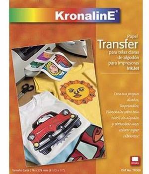 Papel Transfer T Carta Telas Claras Carta Tr300 Kronaline