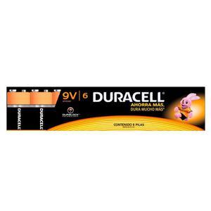 Paquete Pila Duracell Alcalina 9v Con 6 Pzs