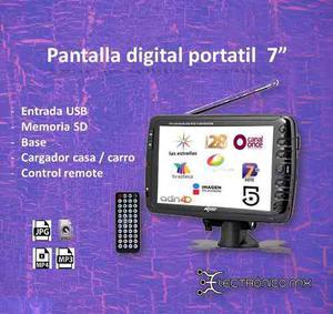 Tv Digital Portatil 7 Usb Sd Televisa Tv Azteca Imagen Tv
