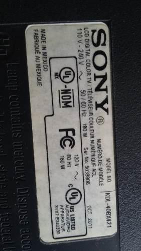 Tv Sony Mod,kdl- 40bx421 Vendo Por Partesi