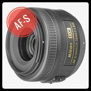 » Lente Nikon Af-s Dx 35mm F/1.8g Autofocus | Envío Gratis