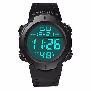 Lote De 6 Relojes Digital Deportivo Honhx Alarma Luz Fecha