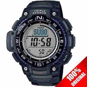 Reloj Casio Sgw Azul Altimetro Termometro Barometro