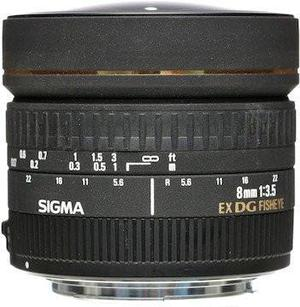 Sigma Lente 8mm F/3.5 Ex Dg Circular Fisheye P/nikon