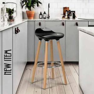 Silla Alta (banco) Juno Negro Kit De 2 Eames