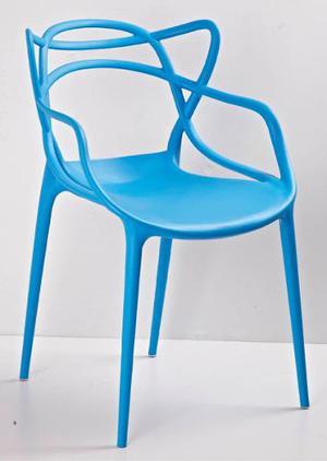 Silla Master Replica Kartell Azul Eames Apliable Restaurant