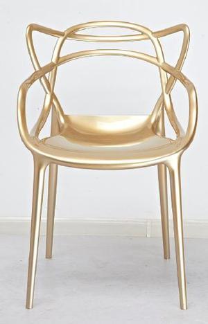 Silla Master Replica Kartell Oro Apilable By Il Mio Mueble