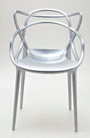 Silla Master Replica Kartell Plata Apilable By Il Mio Mueble