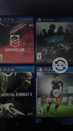 4 juegos para play 4 y un control