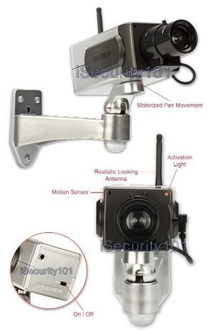 Camara Falsa De Seguridad Giratoria Detecta Movimiento