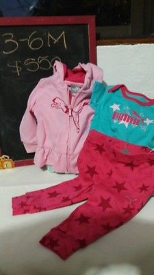 Conjunto deportivo para niña marca Puma