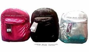 Mochila Lentejuela Fashion Colores Brillosa Grande Porristas