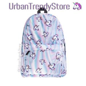 Mochila Unicornio Emoji Backpack 3d Unicorn Escuela