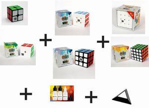 Paquete 3 Cubos Rubik Kung Fu!!! 2x2 3x3 4x4 + Regalos!!