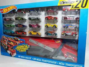 Trailer Mega Transportador Mas 20 Vehiculos Hot Wheels