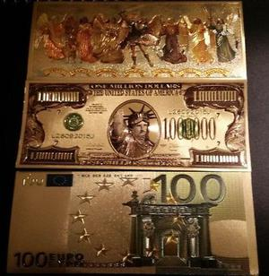 Billetes dorados de feng shui