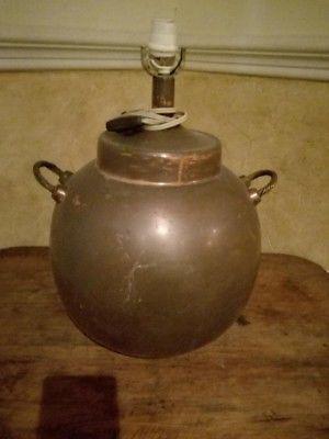 Vendo lámpara de cobre antigua