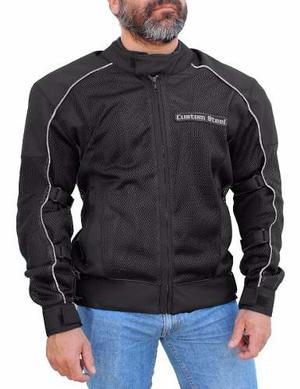 Chamarra Motociclista Textil Malla Protecciones Impermeable