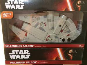 Halcon Milenario Star Wars Lampara 3d Original Coleccion