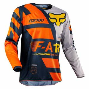 Jersey Fox 180 Sayak Naranja Talla L Motocross Mtb Downhill