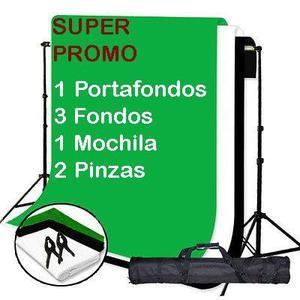 Kit Portafondos P/estudio Profesional Fondos Mochila Pinzas