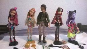 Lote de 5 muñecos Ever After High